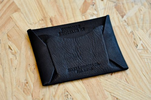 Card holder - leather  Vintage Black (1)